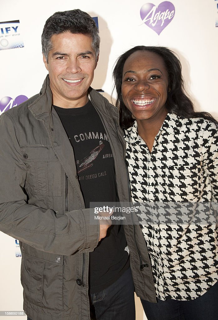 <a gi-track='captionPersonalityLinkClicked' href=/galleries/search?phrase=Esai+Morales&family=editorial&specificpeople=208672 ng-click='$event.stopPropagation()'>Esai Morales</a> and Jordan Howard attend Birth 2012 LA Gala at Agape International Spiritual Center on December 22, 2012 in Los Angeles, California.