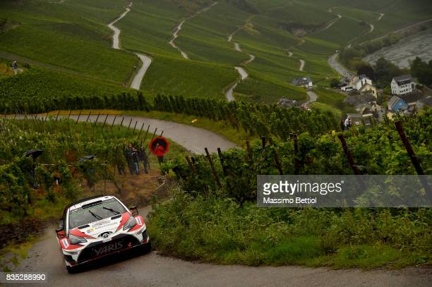 Esapekka Lappi of Finland and Janne Ferm of Finland compete in their Toyota Gazoo Racing WRT Toyota Yaris WRC during Day One of the WRC Germany on...