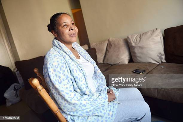 Esaw Garner widow of Eric Garner photographed in her Manhattan home on Wednesday July 1 2015 as the one year anniversary of her husband's death nears