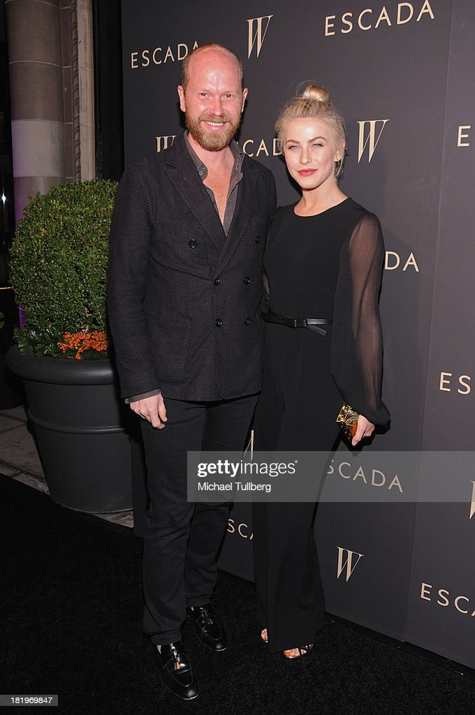 Escada Fashion Director Daniel Wingate and actress Julianne Hough attend the 'Celebrate Cool Earth' benefit for the Cool Earth Foundation at Escada Boutique on September 26, 2013 in Beverly Hills, California.