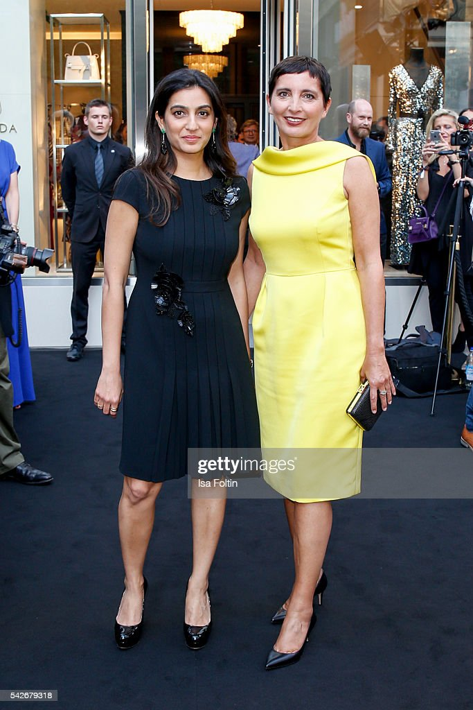 Escada Owner Megha Mittal and Iris Epple Righi CEO Escada attend the ESCADA Flagship Store Opening on June 23 2016 in Duesseldorf Germany