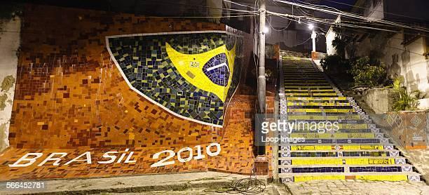 Escadaria Selaron at Lapa in Rio de Janeiro