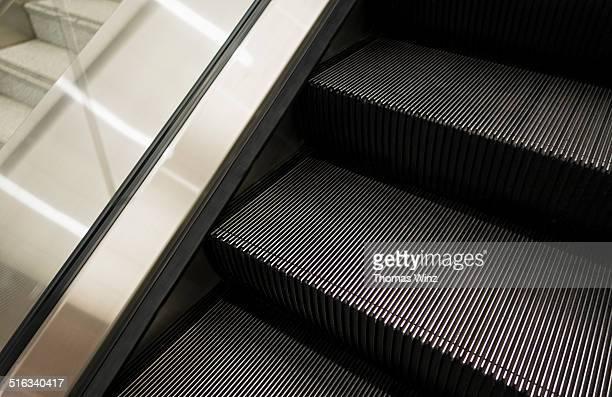 Escalator at an airport