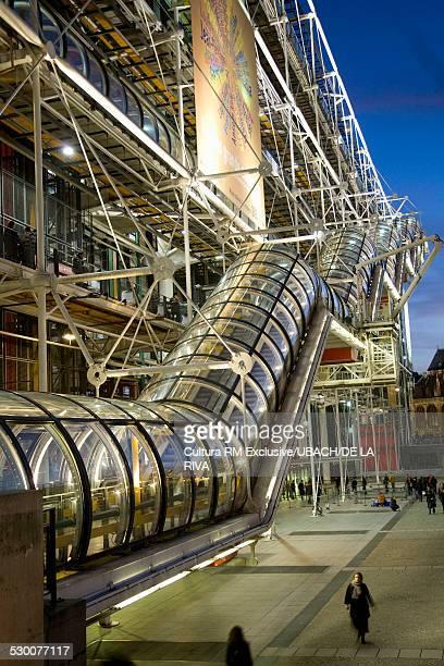 Escalator, Contemporary Art Museum, Pompidou Centre, Paris, France
