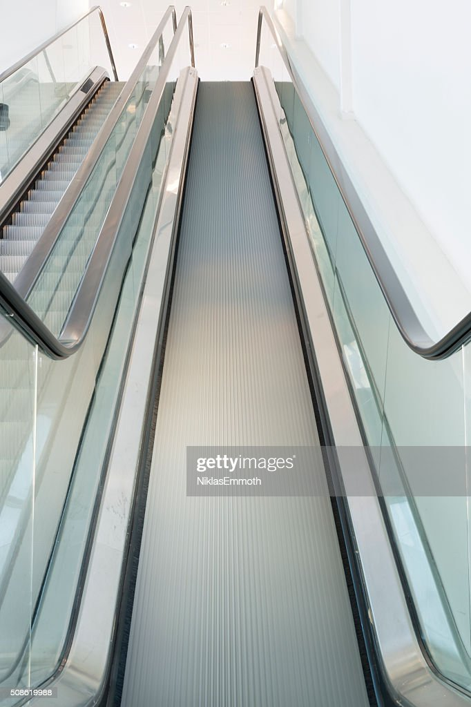 Escalator Looking Up : Stock Photo