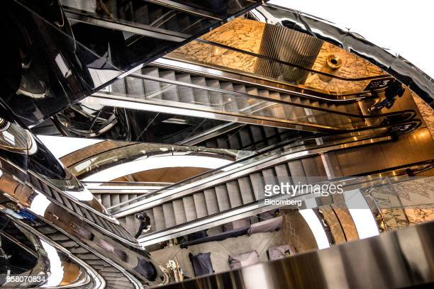 Escalators are illuminated in a shopping mall in Sydney Australia on Friday Sept 29 2017 A bungled transition from coal to clean energy has left...