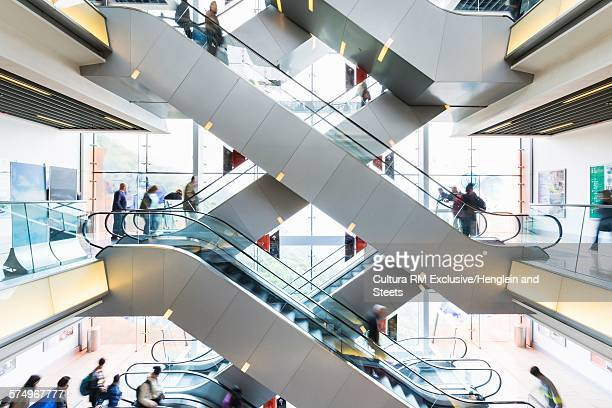 Escalators in shopping mall, Hong Kong