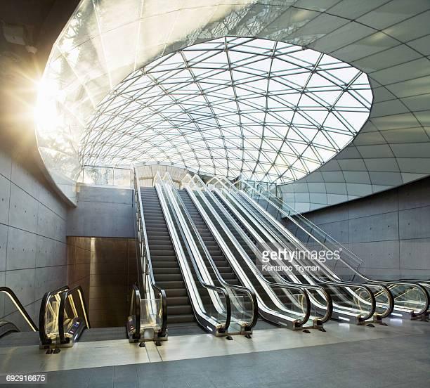 Escalators in Triangeln station