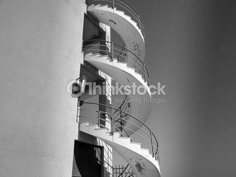 Escalier Extérieur De Colimaçon Stock-Foto | Thinkstock
