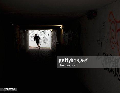 Escape From  Tunnel. Color Image