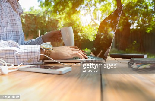Escaped of office : Stock Photo