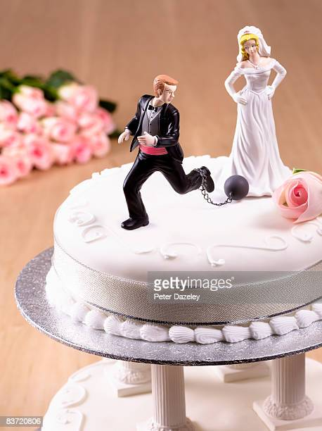 Escaping Groom on Wedding Cake