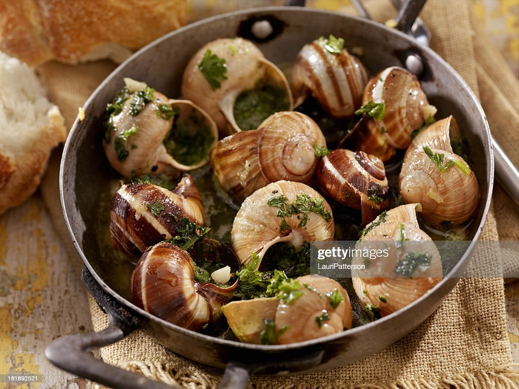 Escargot stock photo getty images for Cuisine francaise