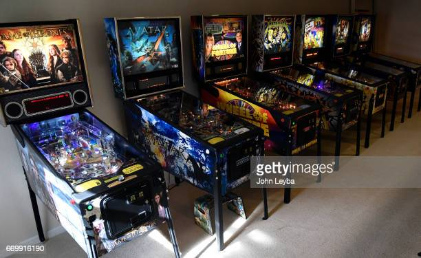 Escher Lefkoff a 13yearold Longmont has plenty of pinball machines to choose from to play on April 17 2017 at his home in Longmont The 13yearold is...