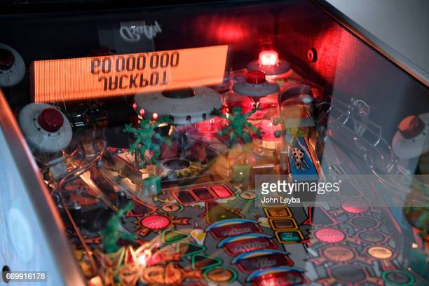 Escher Lefkoff a 13yearold Longmont shows off his skill on the pinball machine on April 17 2017 at his home in Longmont The 13yearold is now the new...