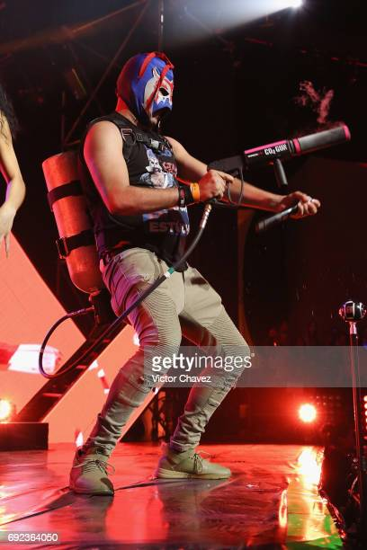 Escorpion Dorado performs on stage during the MTV MIAW Awards 2017 at Palacio de Los Deportes on June 3 2017 in Mexico City Mexico