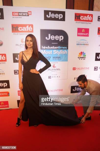 Esha Gupta walks red carpet during the HT Mumbai's Most Stylish Awards 2017 at Taj Lands End Bandra on March 24 2017 in Mumbai India