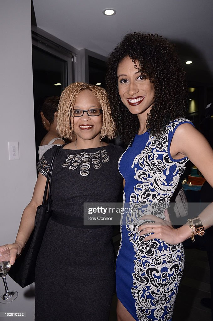 Esi Eggleston Bracey and Elaine Welteroth pose for a photo during the Leading Women Defined: First Ladies Reception on February 27, 2013 in Washington, DC.