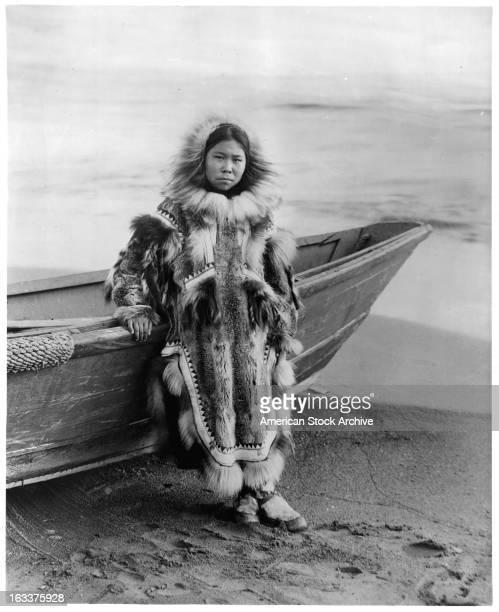 Eskimo Girl in Alaska 1955