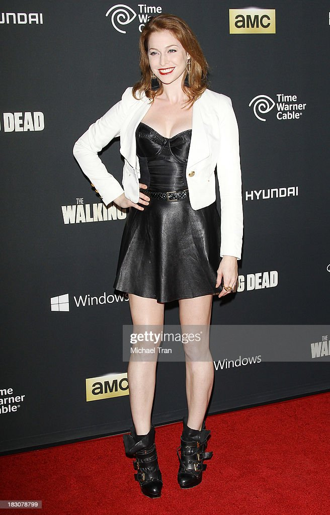Esme Bianco arrives at the Los Angeles premiere of AMC's 'The Walking Dead' 4th season held at Universal CityWalk on October 3, 2013 in Universal City, California.