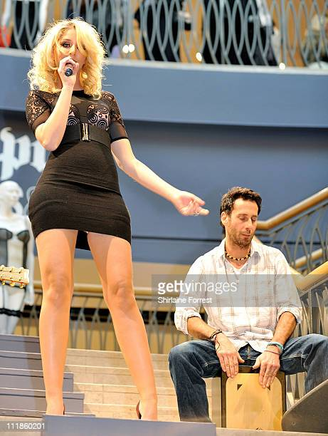 Esmée Denters launches the new lingerie range called btempt'd at Selfridges on April 7 2011 in Manchester England