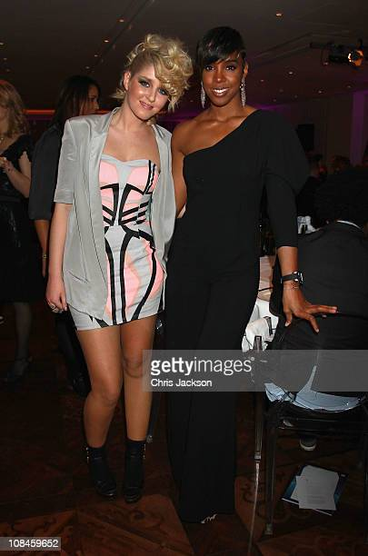 Esmee Denters and Kelly Rowland attend the MTV Staying Alive Fundraising and farewell event to celebrate the achievements of Bill Roedy Chairman and...