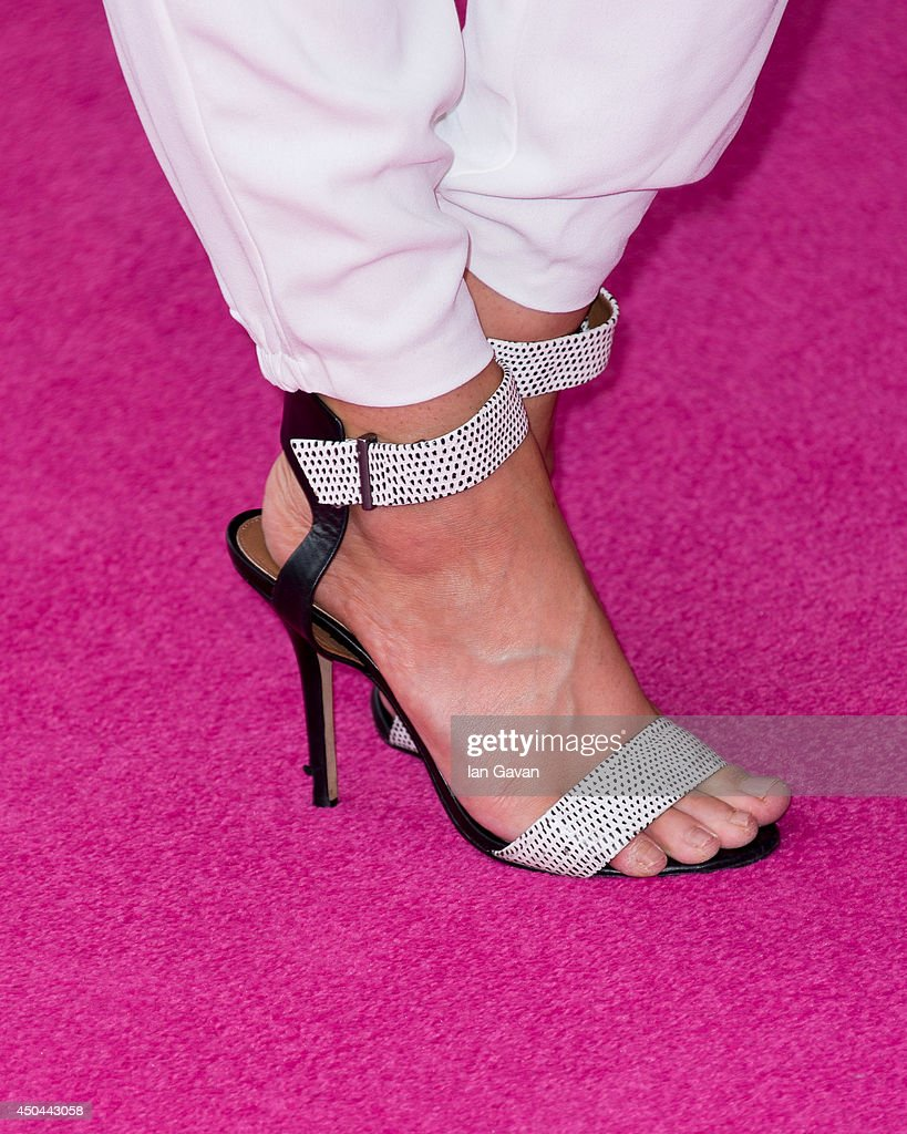 Esmee Denters (shoe detail) attends the UK Premiere of 'Walking On Sunshine' at Vue West End on June 11, 2014 in London, England.