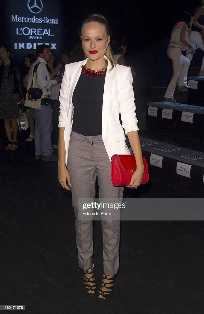 Esmeralda Moya attends a fashion show during the Mercedes Benz Fashion Week Madrid Spring/Summer 2014 on September 13, 2013 in Madrid, Spain.