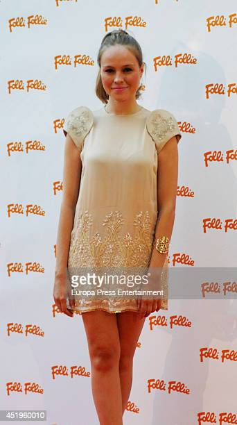 Esmeralda Moya attends a Folli Follie Summer Party on July 9 2014 in Madrid Spain