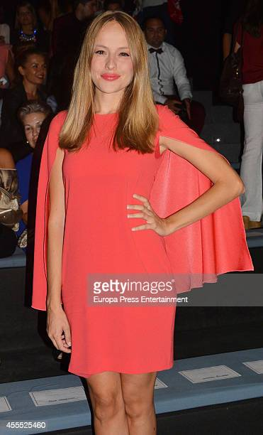 Esmeralda Moya attends Mercedes Benz Fashion Week Madrid at Ifema on September 15 2014 in Madrid Spain