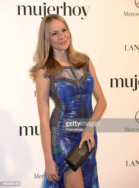 Esmeralda Moya attends the 2014 Mujer Hoy Awards at The Palace Hotel on December 16 2014 in Madrid Spain