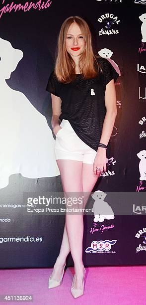 Esmeralda Moya attends the 'By Nerea' new fashion collection on June 23 2014 in Madrid Spain