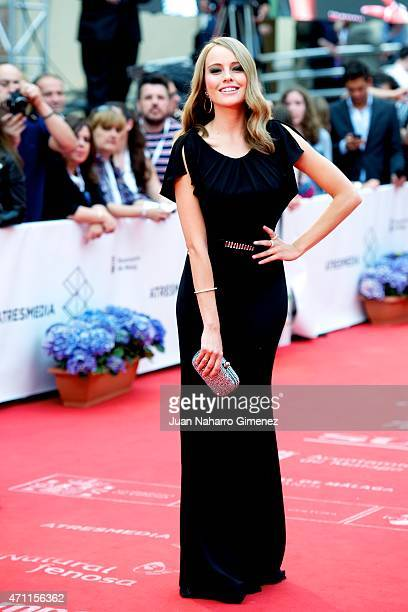 Esmeralda Moya attends the 'Solo Quimica' premiere during the 18th Malaga Spanish Film Festival at the Cervantes Theater on April 25 2015 in Malaga...