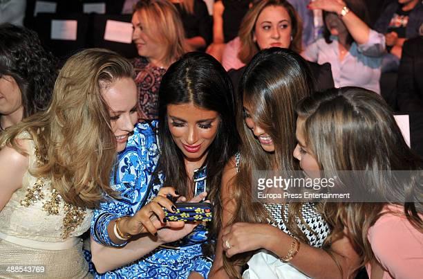 Esmeralda Moya Daniella Semaan Antonella Roccuzzo Natalia Sanchez attend the Rosa Clara fashion show during 'Barcelona Bridal Week 2014' on May 6...