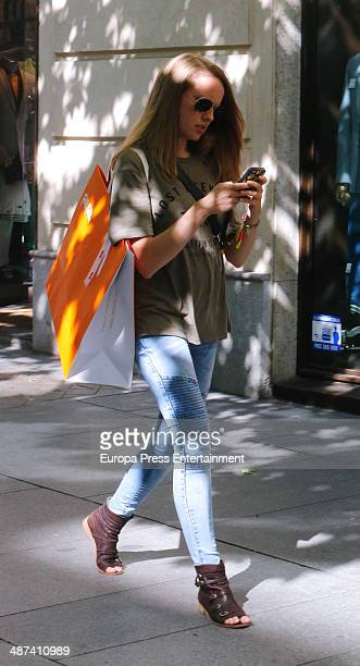 Esmeralda Moya is seen on April 29 2014 in Madrid Spain