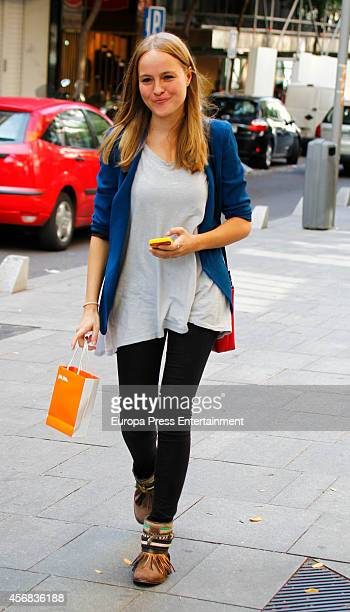 Esmeralda Moya is seen on October 6 2014 in Madrid Spain