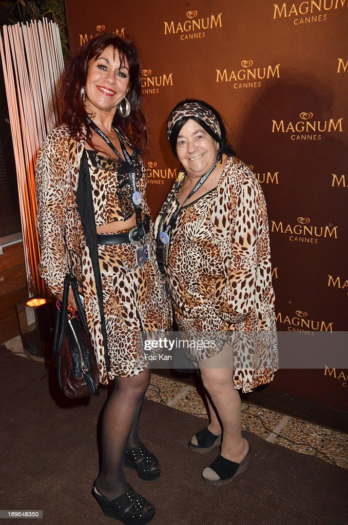 Esmeralda Petit and her mother Pascaline Petit known as Les Femmes Pantheres attend La Vie D'Adele Palme d'Or Party At The Magnum Cannes Plage - The 66th Annual Cannes Film Festival on May 26, 2013 in Cannes, France.