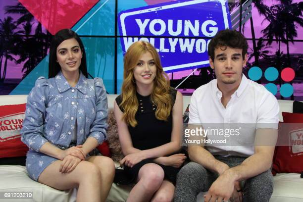 Esmeraude Toubia Katherine McNamara and Alberto Rosende at the Young Hollywood Studio on May 25 2017 in Los Angeles California