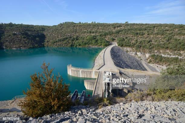 Esparron Dam or Barrage & Lake Provence France