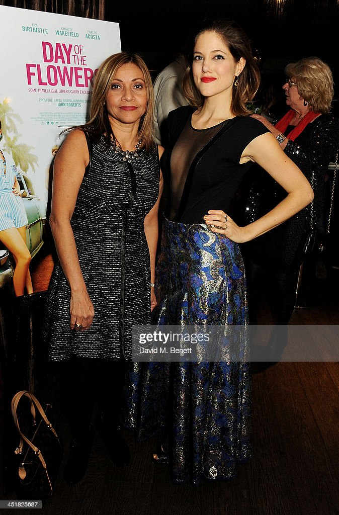 Espe Duffy (L) and Charity Wakefield attend an after party celebrating the UK Premiere of 'Day Of The Flowers' at The Mayfair Hotel on November 24, 2013 in London, England.