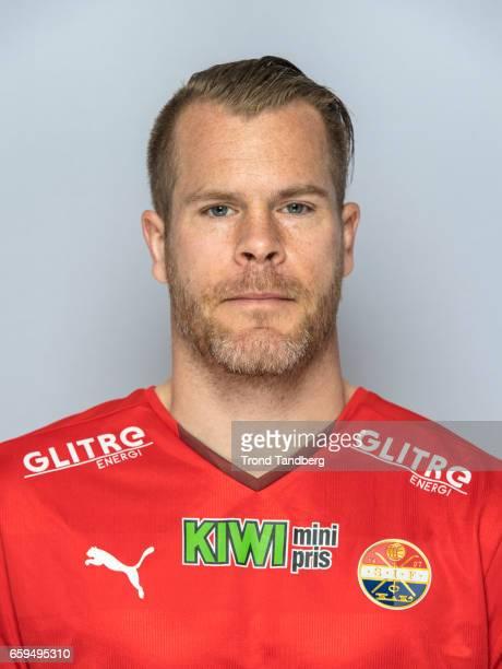 Espen Bugge Pettersen of Team Stromsgodset Fotballklubb during Photocall on March 17 2017 in Drammen Norway