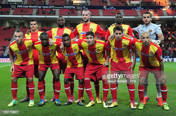 Esperance Sportive de Tunis pose for a team photograph before the FIFA Club World Cup 5th Place match between Club de Futbol Monterrey and Esperance...