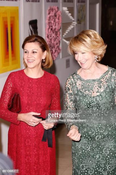 Esperanza Aguirre and Maria Dolores de Cospedal attend IX ABC Bullfighting Award at Casa de ABC on March 9 2017 in Madrid Spain