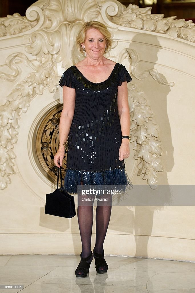 <a gi-track='captionPersonalityLinkClicked' href=/galleries/search?phrase=Esperanza+Aguirre&family=editorial&specificpeople=855240 ng-click='$event.stopPropagation()'>Esperanza Aguirre</a> attends the Ralph Lauren Dinner Charity Gala at the Casino de Madrid in on November 14, 2013 in Madrid, Spain.