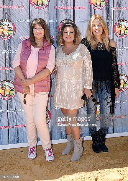 Esperanza Gracia and Belen Rodriguez attends Terelu Campos' Birthday Party at Tonatiuh restaurant on September 18 2016 in Madrid Spain