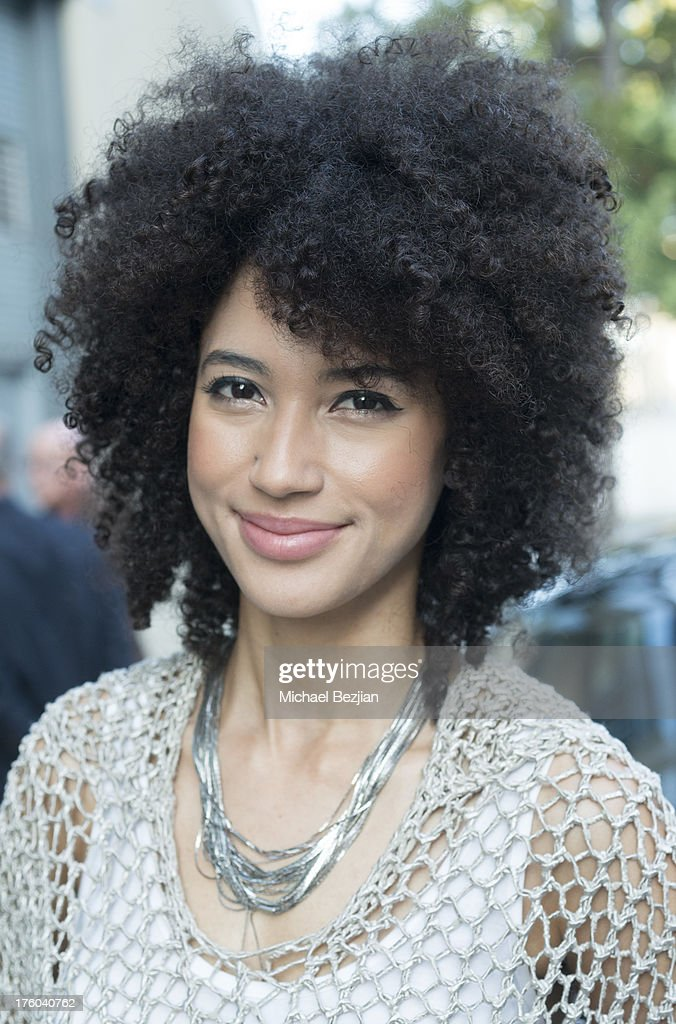 Esperanza Spalding attends Showcase Benefiting The Carrie Ann Inaba Animal Project at Gibson Guitar Entertainment Relations Showroom on August 10, 2013 in Beverly Hills, California.