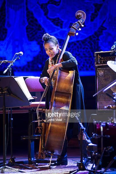 Esperanza Spalding of ACS performs on stage during Festival Internacional de Jazz de Barcelona at Palau De La Musica on November 14 2013 in Barcelona...