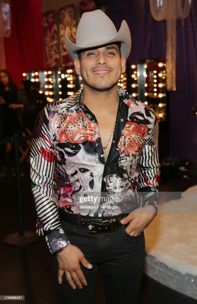 Espinoza Paz is seen attending the premiere show of Univision's Nuestra Belleza Latina at Univision Headquarters on March 2, 2014 in Miami, Florida.