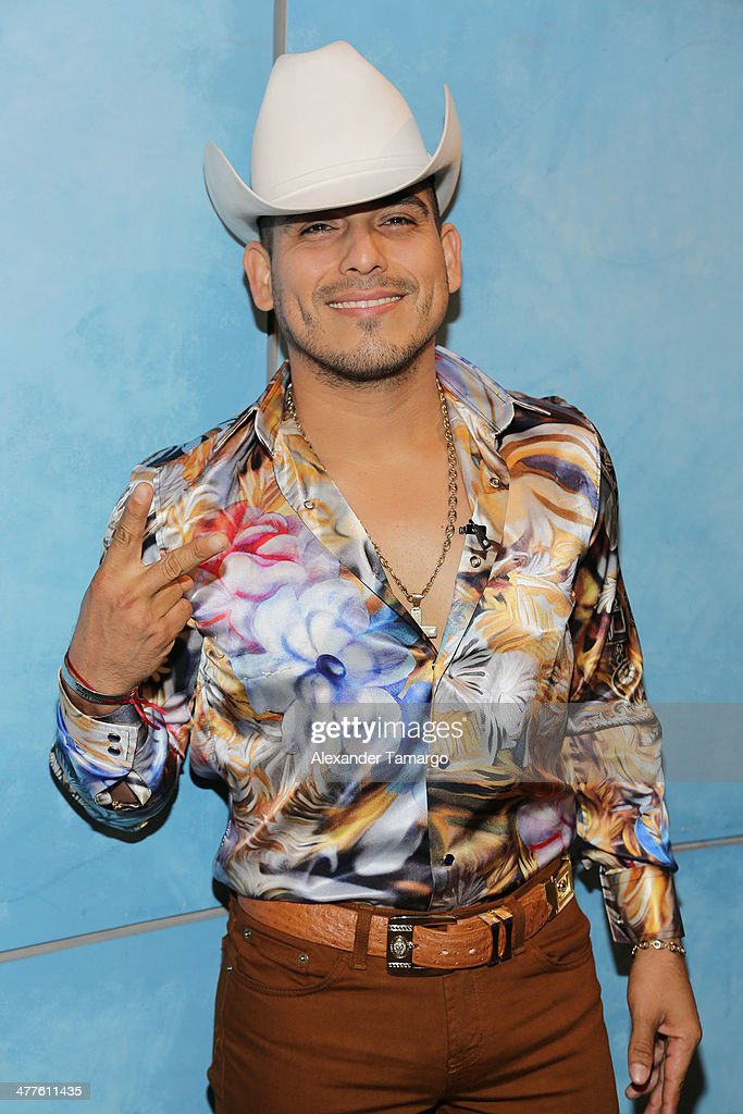Espinoza Paz is seen on the set of Univision's Despierta America morning show at Univision Headquarters on March 10, 2014 in Miami, Florida.