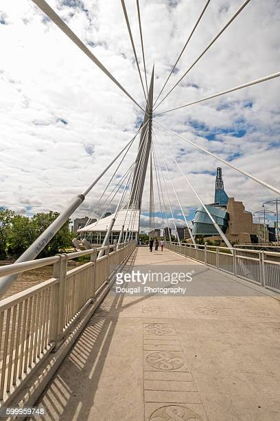 Esplanade Riel, Winnipeg, Manitoba With Canadian Museum for Human Rights